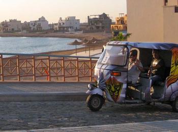 Rickshaw Powered by Solar Energy